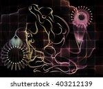 human tangents series. abstract ... | Shutterstock . vector #403212139