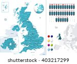 great britain map and it's... | Shutterstock .eps vector #403217299