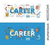 career lettering flat line... | Shutterstock .eps vector #403235245