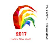 2017 happy new year greeting... | Shutterstock .eps vector #403265761