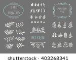 hand drawn floral elements. set ... | Shutterstock .eps vector #403268341