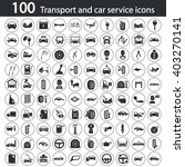set of one hundred transport... | Shutterstock .eps vector #403270141
