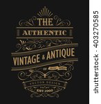 hand drawn frame label vintage... | Shutterstock .eps vector #403270585