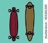 long board skateboarding ... | Shutterstock .eps vector #403281385