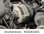 dynamo engine  electrical...   Shutterstock . vector #403281601