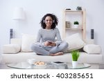 i like spending time at home | Shutterstock . vector #403285651