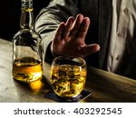 man saying no more to alcohol... | Shutterstock . vector #403292545