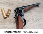 double barreled hunting rifle... | Shutterstock . vector #403302661