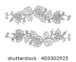 two branches of grapes for... | Shutterstock .eps vector #403302925
