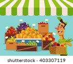 food vegetables market. vector... | Shutterstock .eps vector #403307119