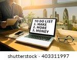 to do list    make more money... | Shutterstock . vector #403311997