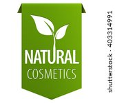 natural cosmetics green tag... | Shutterstock .eps vector #403314991