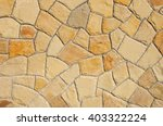 wall of natural stone in... | Shutterstock . vector #403322224