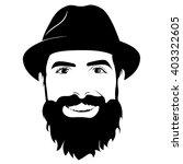 vector portrait of bearded man... | Shutterstock .eps vector #403322605