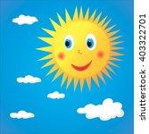 vector isolated character sun | Shutterstock .eps vector #403322701