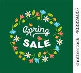 spring sale. vector... | Shutterstock .eps vector #403326007