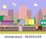 flat design urban landscape... | Shutterstock .eps vector #403331149