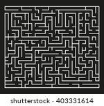 white maze on black background | Shutterstock .eps vector #403331614