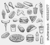 collection freehand drawing... | Shutterstock .eps vector #403332577