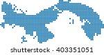 blue circle shape panama map on ...   Shutterstock .eps vector #403351051