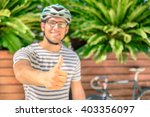 Hipster Guy Is Making Thumb Up...