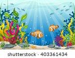 illustration of underwater... | Shutterstock .eps vector #403361434