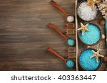 spa composition on wooden... | Shutterstock . vector #403363447