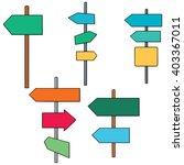 vector set of direction post | Shutterstock .eps vector #403367011