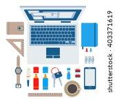 set of flat modern design...   Shutterstock .eps vector #403371619