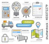 flat design elements of event... | Shutterstock .eps vector #403372279
