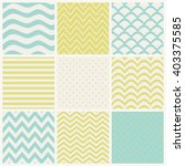 set of nine seamless patterns. | Shutterstock .eps vector #403375585