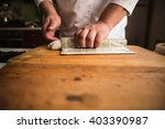japanese cuisine  chef  sushi ... | Shutterstock . vector #403390987