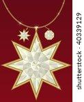 diamond pendant in the form of... | Shutterstock .eps vector #40339129