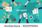 tax haven panama papers concept ... | Shutterstock .eps vector #403395004