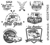 food truck emblems  badges and... | Shutterstock .eps vector #403397905