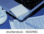 laptop with cup | Shutterstock . vector #4033981