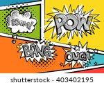 a set of comic bubbles and... | Shutterstock .eps vector #403402195