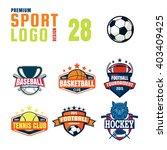 sport logo design set | Shutterstock .eps vector #403409425