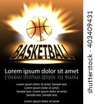 poster basketball ball in... | Shutterstock .eps vector #403409431