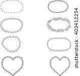 set of eight black and white... | Shutterstock .eps vector #403412254