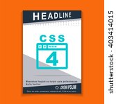 css 4 icon  flyers brochure...