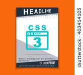css 3 icon  flyers brochure...
