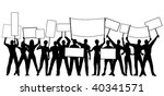 editable vector silhouettes of... | Shutterstock .eps vector #40341571