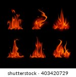 vector set of  different red... | Shutterstock .eps vector #403420729