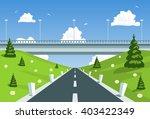 highway under the bridge. vector   Shutterstock .eps vector #403422349