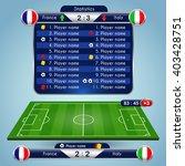 broadcast graphics for sport... | Shutterstock .eps vector #403428751