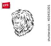 lion logo  vector lion head ... | Shutterstock .eps vector #403431301