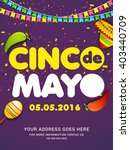 poster or party flyer of cinco... | Shutterstock .eps vector #403440709