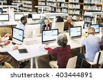 library academic computer... | Shutterstock . vector #403444891