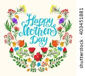 lettering happy mothers day... | Shutterstock .eps vector #403451881